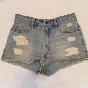 BDG High rise dree cheeky jean shorts 27W